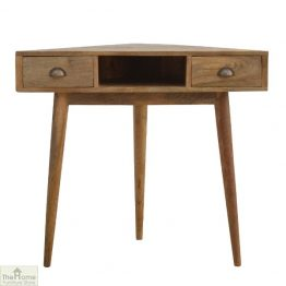 Corner 2 Drawer Console Table