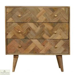 Patterned 3 Drawer Chest