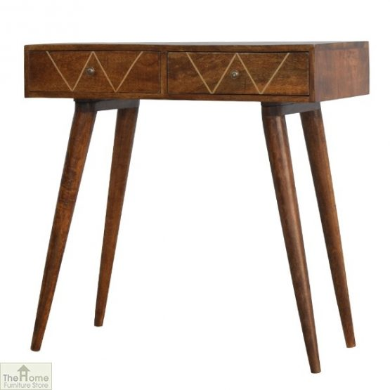 Gold Inlay 2 Drawer Console Table_2
