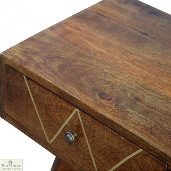 Gold Inlay 2 Drawer Console Table_4