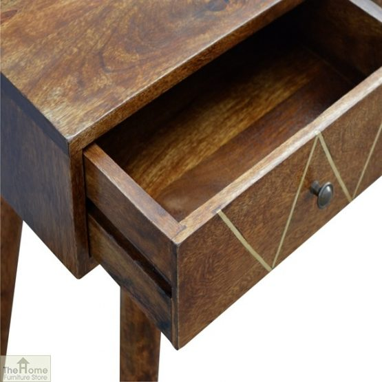 Gold Inlay 2 Drawer Console Table_5
