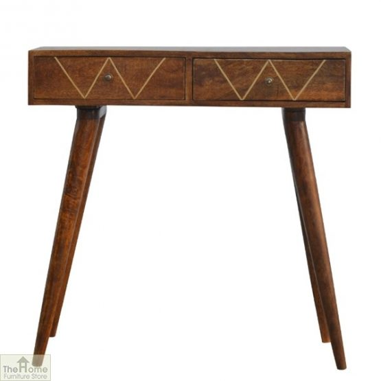 Balmoral Gold Inlay 2 Drawer Console Table