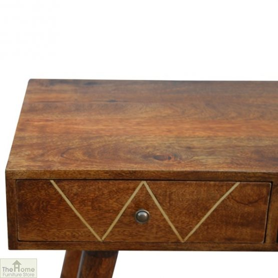 Gold Inlay 2 Drawer Console Table_6