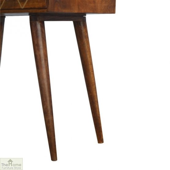 Gold Inlay 2 Drawer Console Table_7