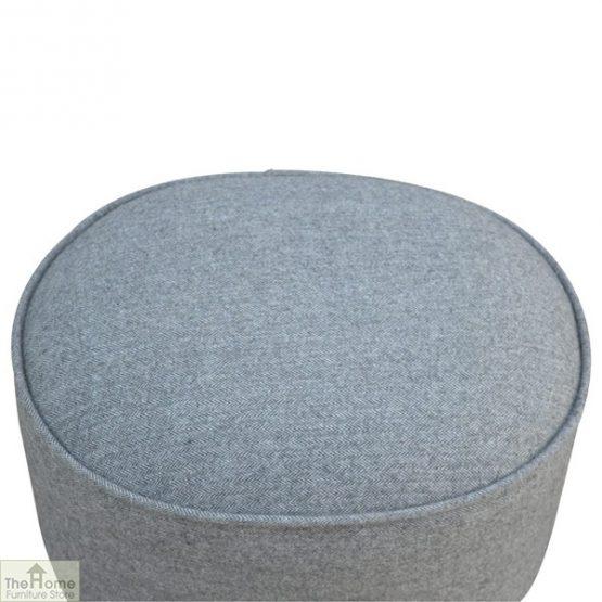 Grey Tweed Oval Footstool_3