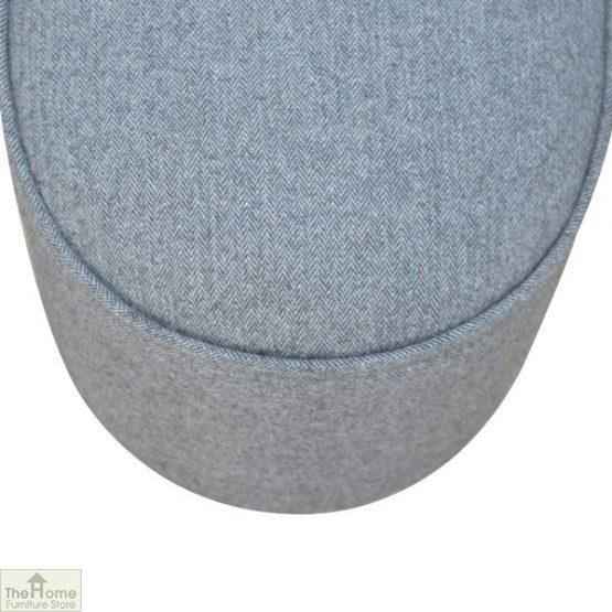 Grey Tweed Oval Footstool_6