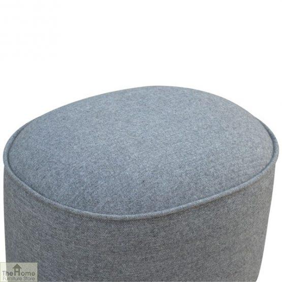 Grey Tweed Oval Footstool_7