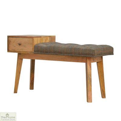 Tweed 1 Drawer Wooden Bench_2