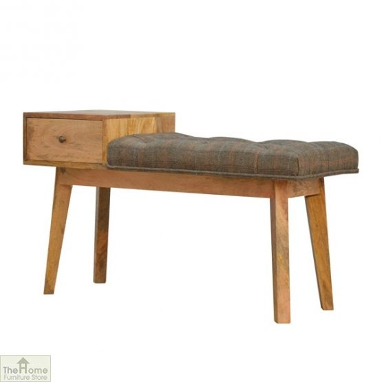 Tweed 1 Drawer Wooden Bench_2