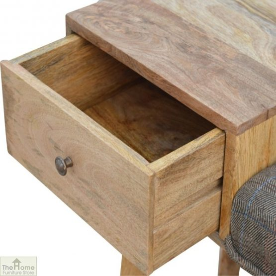 Tweed 1 Drawer Wooden Bench_5