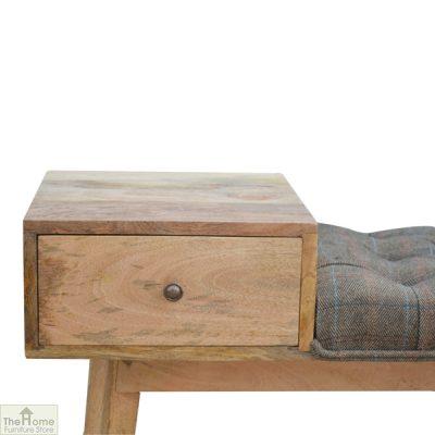 Tweed 1 Drawer Wooden Bench_6