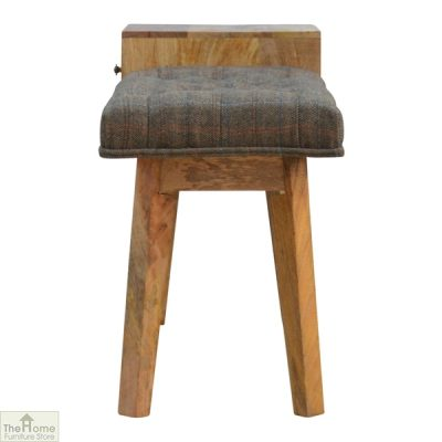 Tweed 1 Drawer Wooden Bench_4