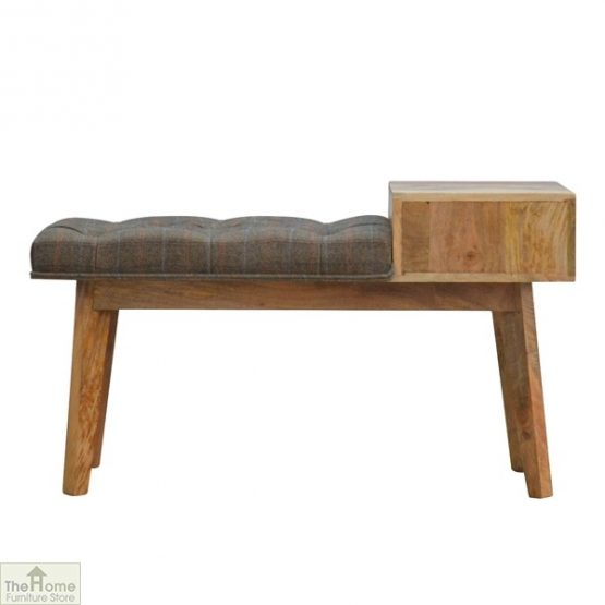 Tweed 1 Drawer Wooden Bench_3