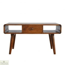 Highgrove Curved 1 Drawer Coffee Table