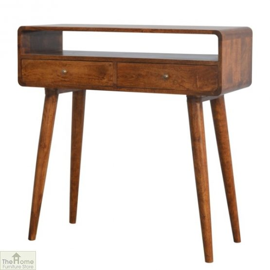 Curved 2 Drawer Console Table_2