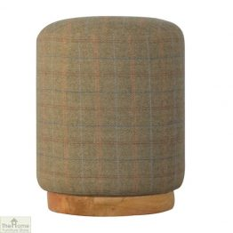Multi Tweed Round Pouffe