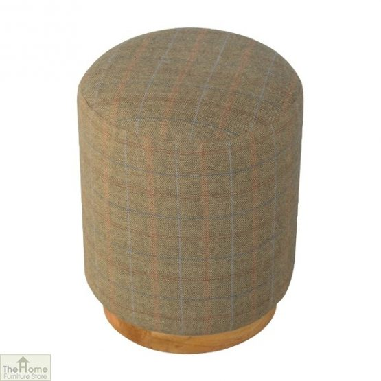 Multi Tweed Round Pouffe_1