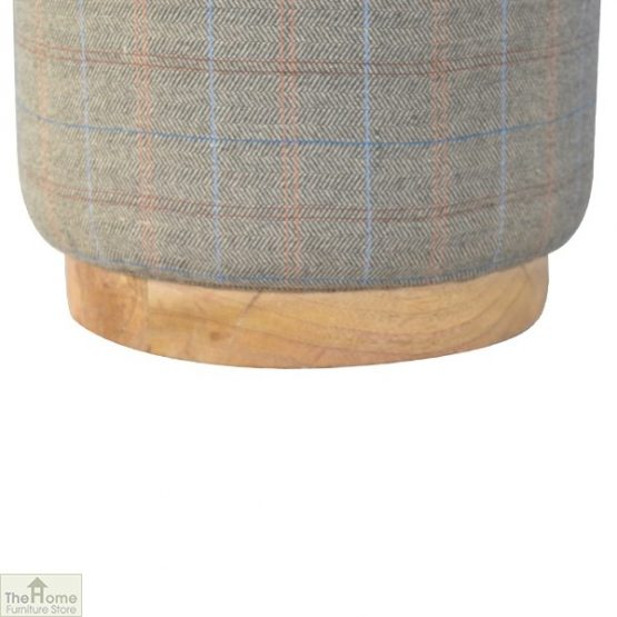 Multi Tweed Round Pouffe_4