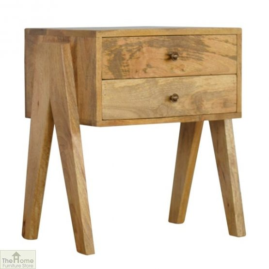 V-Shaped 2 Drawer End Table_1