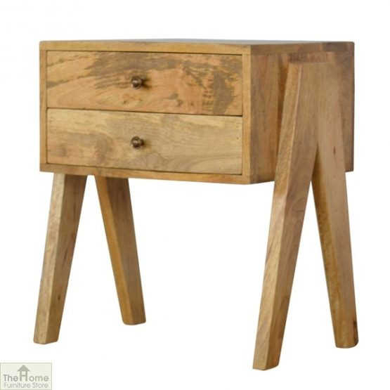 V-Shaped 2 Drawer End Table_2