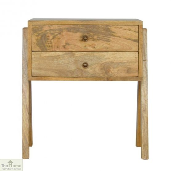 V-Shaped 2 Drawer End Table