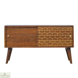 Windsor Gold Pattern Sliding Door Cabinet