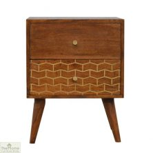 Gold Pattern 2 Drawer Unit