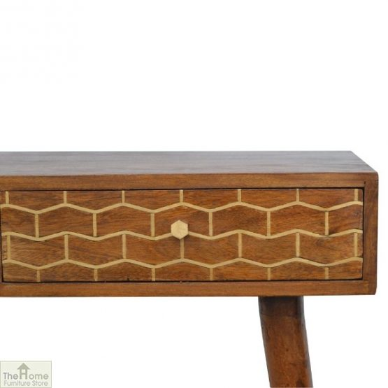 Gold Pattern 2 Drawer Console Table_8