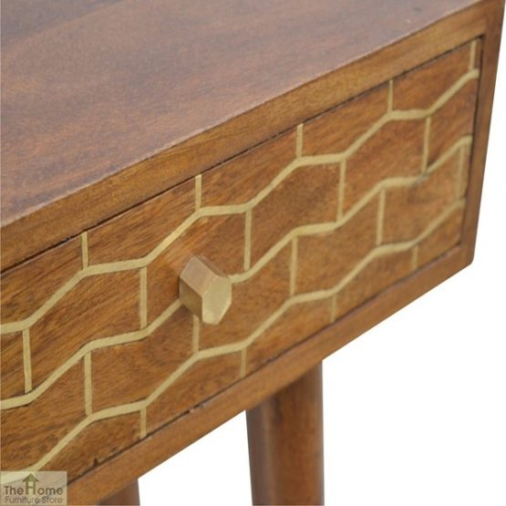 Gold Pattern 2 Drawer Console Table_7