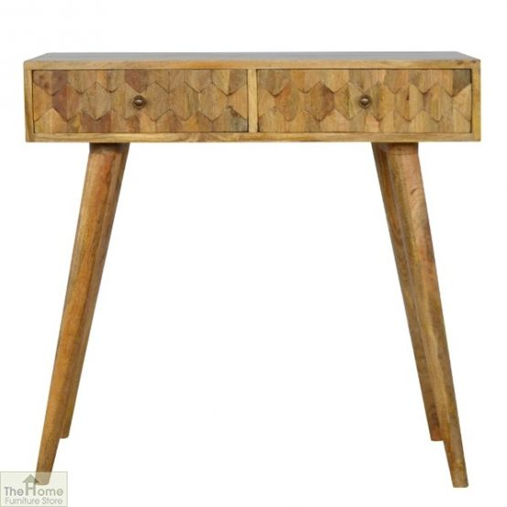 Kaliko Carved 2 Drawer Console Table