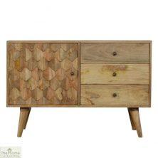 Carved 3 Drawer Cabinet