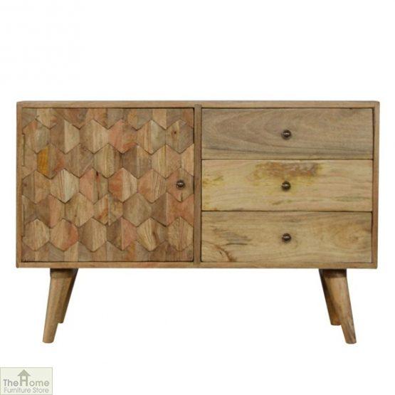Kaliko Carved 3 Drawer Cabinet