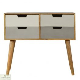 Grey 4 Drawer Console Table