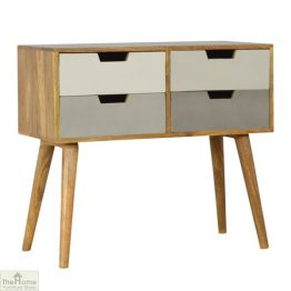 Grey 4 Drawer Console Table_1