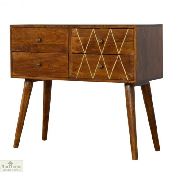 Gold Inlay 4 Drawer Console Table_2