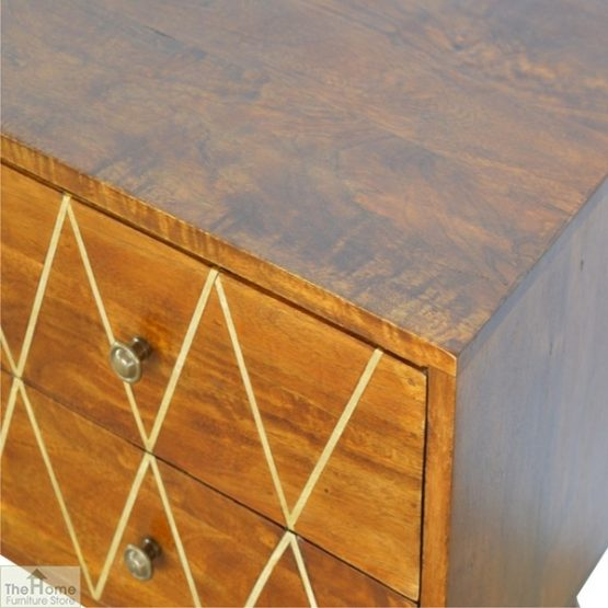 Gold Inlay 4 Drawer Console Table_8