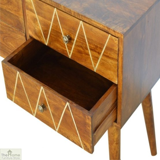 Gold Inlay 4 Drawer Console Table_7