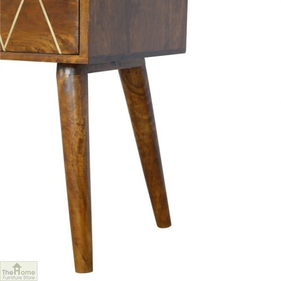 Gold Inlay 4 Drawer Console Table_5