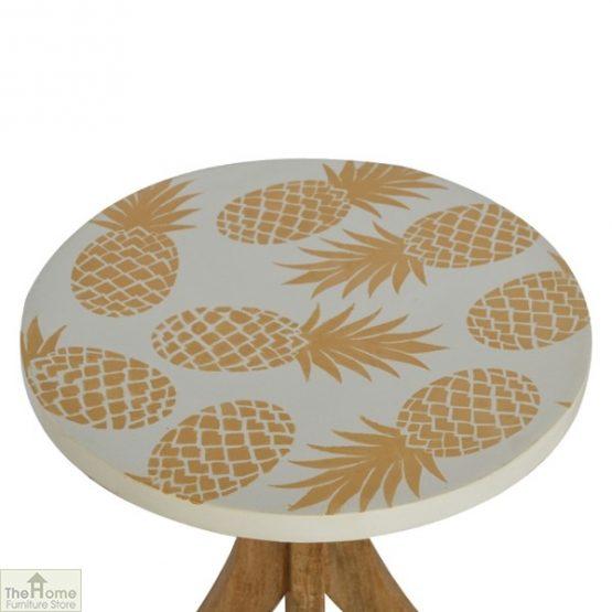Pineapple Print Side Table_4