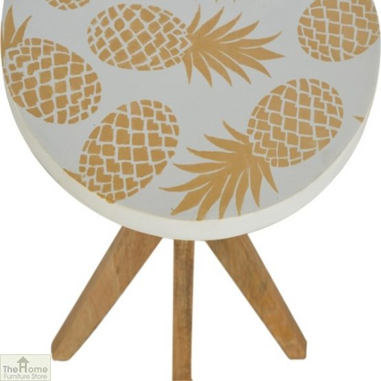 Pineapple Print Side Table_5