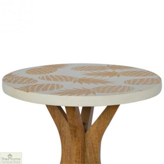 Pineapple Print Side Table_3