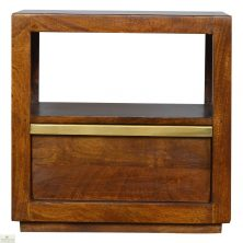 Chestnut 1 Drawer End Table