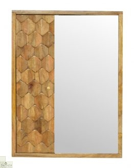 Carved Mirrored Cabinet