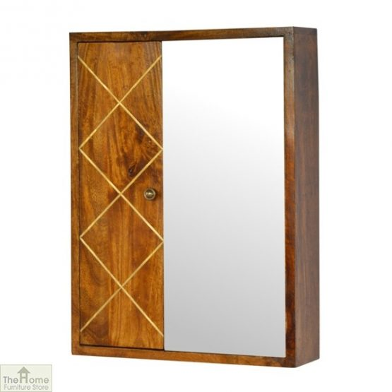 Gold Inlay Mirrored Cabinet_2