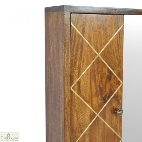 Gold Inlay Mirrored Cabinet_3