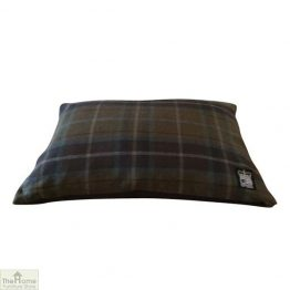 Navy Check Dog Cushion Bed