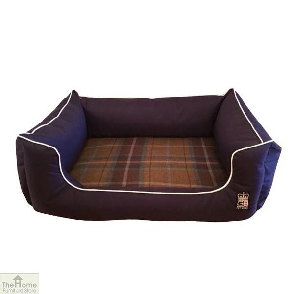 Blue Memory Foam Dog Settee Bed