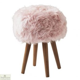 Blush Pink Sheepskin Stool
