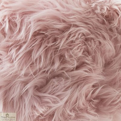 Blush Pink Sheepskin Stool_2
