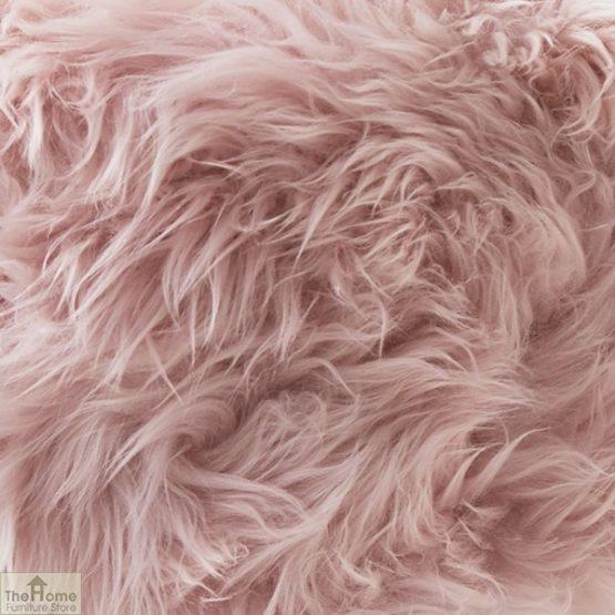 Blush Pink Sheepskin Stool_2